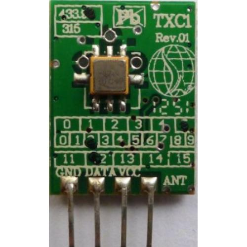 433 MHz TXC1 RF verici